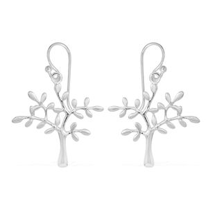 Sterling Silver Tree Earrings (4g)