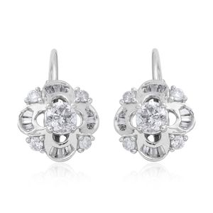 14K WG Diamond (H I2) Earrings TDiaWt 0.75 cts, TGW 0.75 cts.