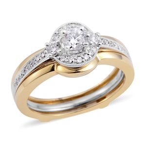 14K WYG Diamond (H I1) Ring (Size 7.0) TDiaWt 0.50 cts, TGW 0.50 cts.