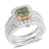14K WYG Green Diamond (IR), Diamond (H I1) Ring (Size 7.0) TDiaWt 2.00 cts, TGW 2.00 cts.