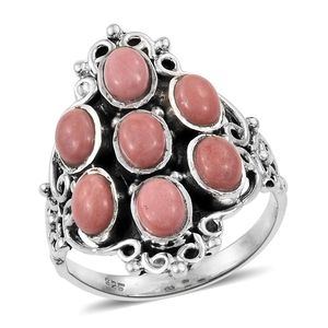 Oregon Peach Opal Sterling Silver Ring (Size 6.0) TGW 2.75 cts.