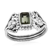 Artisan Crafted Bohemian Moldavite Sterling Silver Ring (Size 10.0) TGW 0.79 cts.