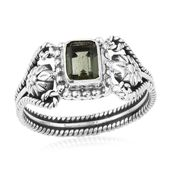 Artisan Crafted Bohemian Moldavite Sterling Silver Ring (Size 9.0) TGW 0.79 cts.