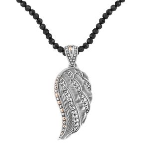 Bali Legacy Collection 18K YG Sterling Silver Pendant wirh Thai Black Spinel Necklace (18 in) Total Gem Stone Weight 20.00 Carat