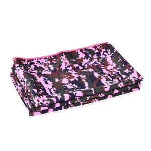 ICE TOWEL- Set of 3 Pink 80% Polyester and 20% Nylon Reusable Environment Friendly and Energy-Efficient (90x30 cm)