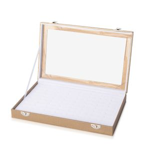 Bronze Leatherette Paper Ring Box (72 Rings) (11.5x1.5x7 in)