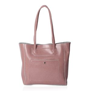 Mauve Genuine Leather Tote Bag (16x5x12 in)