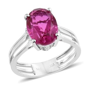 Radiant Orchid Quartz Platinum Over Sterling Silver Solitaire Ring (Size 5.0) TGW 6.25 cts.