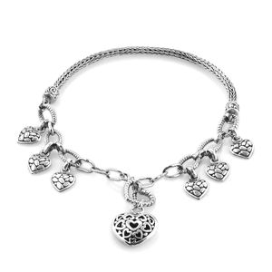 Bali Legacy Collection Sterling Silver Bracelet (7.50 In)