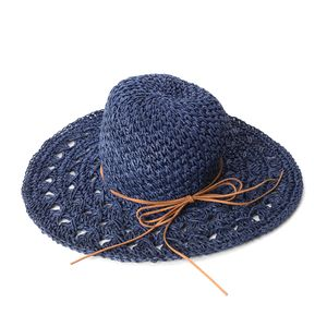 Navy 100% Paper Hat with Bowknot (One Size)