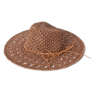 Brown 100% Paper Hat with Bowknot (One Size)