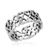 Sterling Silver Heart Ring (Size 7.0)