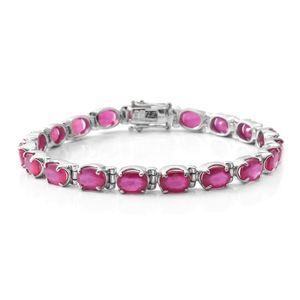 Niassa Ruby Sterling Silver Bracelet (6.50 In) TGW 18.00 cts.