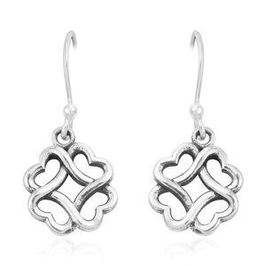 Sterling Silver Heart Knot Earrings (3.69g)
