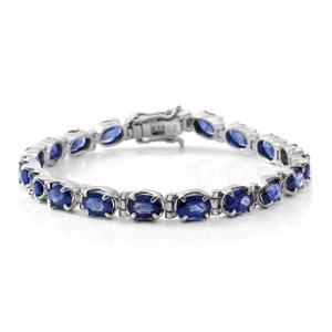 Masoala Sapphire Sterling Silver Tennis Bracelet (8.00 In) TGW 22.16 cts.