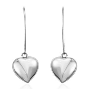Sterling Silver Heart Threader Earrings (3.54g)