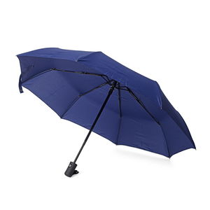 Blue Polyester One Button Umbrella (11x2x2 in)