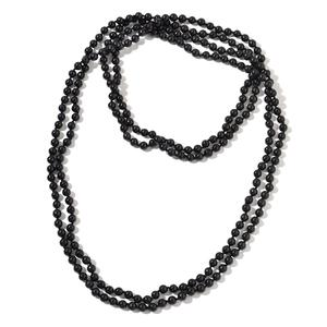 Budget Pay Bonanza Burmese Black Jade Beads Endless Necklace (100 in) TGW 1232.00 cts.