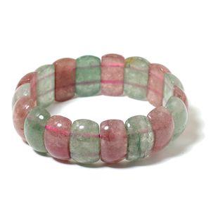Green Strawberry Quartz, Strawberry Quartz Bracelet (Stretchable) TGW 280.00 cts.