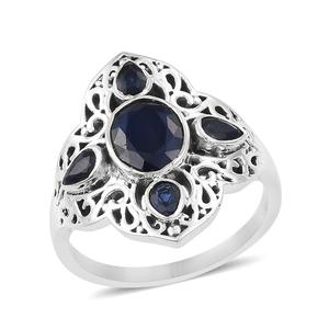 Artisan Crafted Masoala Sapphire Sterling Silver Ring (Size 7.0) TGW 3.02 cts.