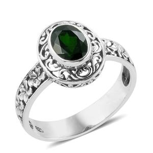 Bali Legacy Collection Russian Diopside Sterling Silver Openwork Ring (Size 8.0) TGW 1.29 cts.