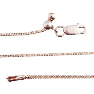 14K RG Over Sterling Silver Franco Chain with Magic Ball Adjustment (24 in, 3.2 g)