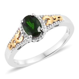 Customer Appreciation DOORBUSTER Russian Diopside 14K YG and Platinum Over Sterling Silver Ring (Size 8.0) TGW 1.20 cts.