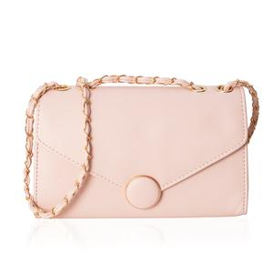 Classy Pink Crossbody Bag (10.1x3.3x6.1 in) with Magnetic Closure
