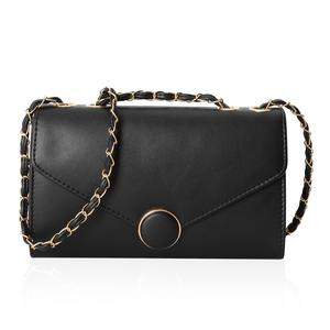 Classy Black Crossbody Bag (10.1x3.3x6.1 in) with Magnetic Closure