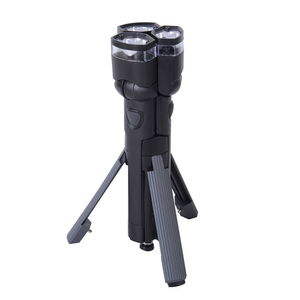 Black and Gray 3 in 1 Tripod Flashlight (6AA Batteries Not Included)