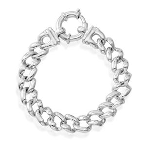 Sterling Silver Men's Link Curb Bracelet (8.00 In)(20.1g)