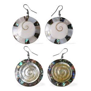 Set of 2 Shell Dangle Stainless Steel Earrings