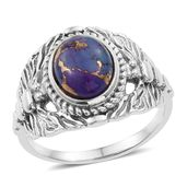 Artisan Crafted Mojave Purple Turquoise Sterling Silver Dragonfly Ring (Size 7.0) TGW 2.48 cts.