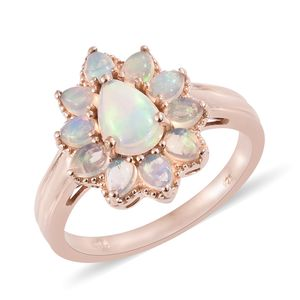 Ethiopian Welo Opal Vermeil RG Over Sterling Silver Ring (Size 6.0) TGW 1.85 cts.