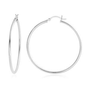 Sterling Silver Hoop Earrings (3.3g)