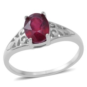 Niassa Ruby Sterling Silver Ring (Size 11.0) TGW 1.70 cts.