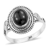 Artisan Crafted Thai Black Spinel Sterling Silver Ring (Size 9.0) TGW 4.05 cts.