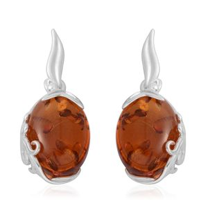 Baltic Amber Sterling Silver Dangle Earrings