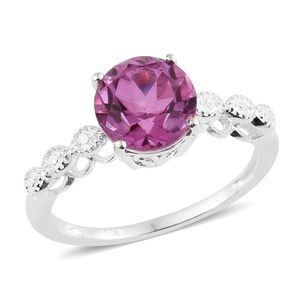 African Lilac Quartz Sterling Silver Ring (Size 7.0) TGW 3.25 cts.