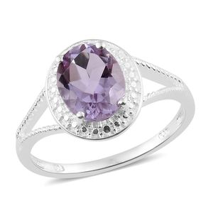Rose De France Amethyst Sterling Silver Split Ring (Size 5.0) TGW 2.40 cts.