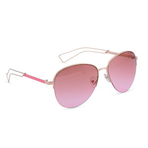 Solar X Eyewear- UV Protection Pink Lens and Temple Aviator Fashion Sunglasses