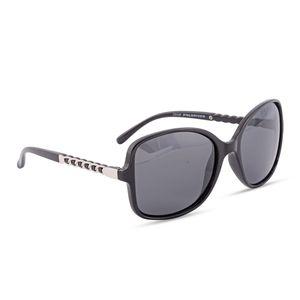 Solar X Eyewear - Black UV 400 Tac Polarized Fashion Sunglasses with Link Temple