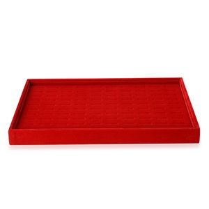 Red Velvet 100 Pieces Ring Box (13.8x9.4x1.3 in)