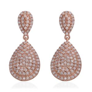 Natural Pink Diamond 14K RG Over Sterling Silver Earrings TDiaWt 1.00 cts, TGW 1.00 cts.