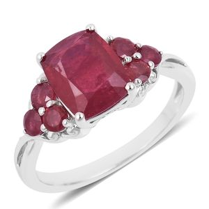 Niassa Ruby Sterling Silver Ring (Size 8.0) TGW 5.80 cts.