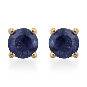 Masoala Sapphire Vermeil YG Over Sterling Silver Earrings TGW 0.82 cts.
