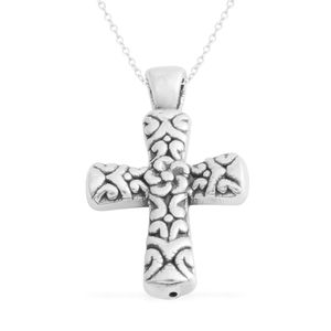 Sterling Silver Cross Pendant With Chain (3.4g)