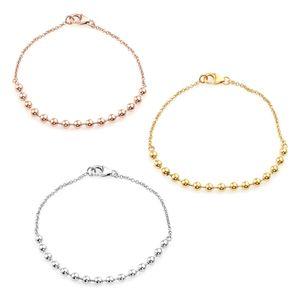 14K YRG Over and Sterling Silver Set of 3 Bracelet