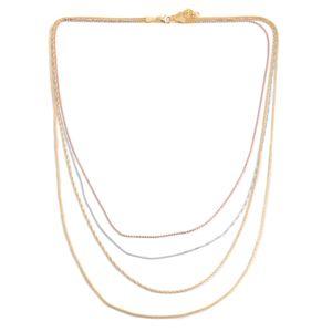 Tricolor Sterling Silver Chain (24 in)