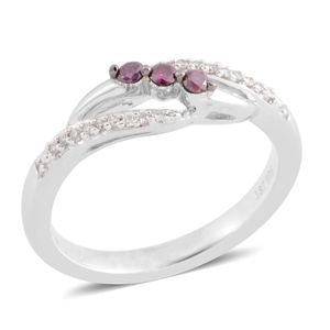 Purple Diamond (IR), Diamond Sterling Silver Ring (Size 6.5) TDiaWt 0.15 cts, TGW 0.15 cts.
